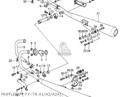 Kawasaki Kz1000a1 1977 Canada parts list partsmanual