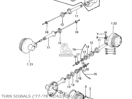 Kawasaki Kz1000a1 1977 Canada parts list partsmanual