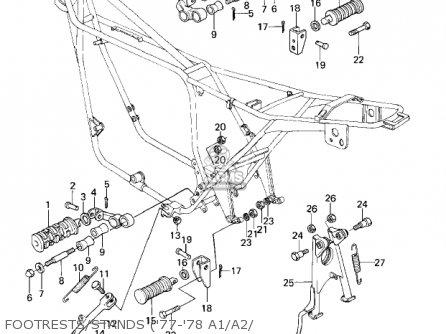Kawasaki KZ1000A2A KZ1000 1978 CANADA parts lists and