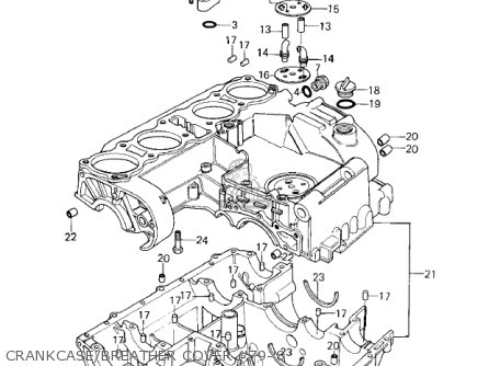 Kawasaki KZ1000A3 KZ1000 1979 CANADA parts lists and