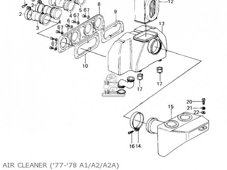 Kawasaki Kz1000a4 Kz1000 1980 Canada parts list