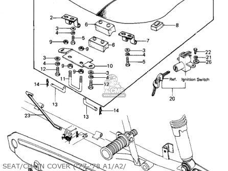 Kawasaki KZ1000A4 KZ1000 1980 CANADA parts lists and