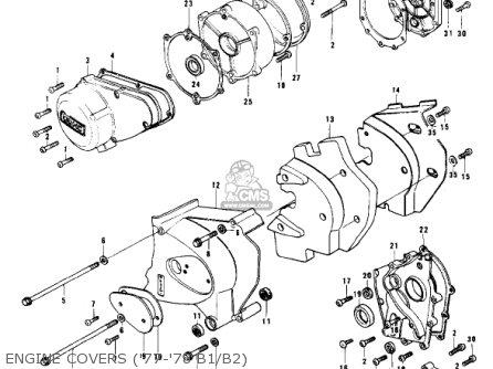 Kawasaki Kz1000b1 Kz1000 Ltd 1977 Usa Canada parts list