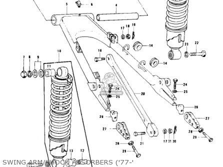 Kawasaki KZ1000B1 KZ1000 LTD 1977 USA CANADA parts lists