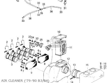 Kawasaki Kz1000b2 Kz1000 Ltd 1978 Usa Canada parts list