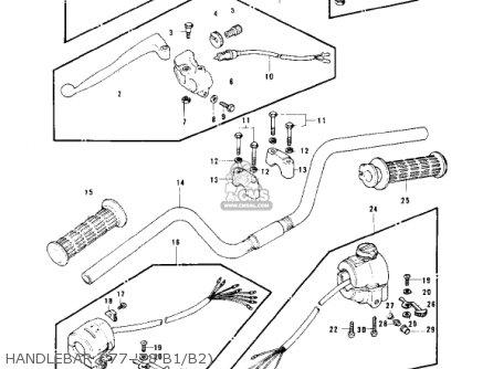 Kawasaki KZ1000B2 KZ1000 LTD 1978 USA CANADA parts lists