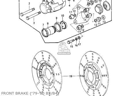 Kawasaki KZ1000B3 KZ1000 LTD 1979 USA CANADA parts lists