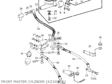 Kawasaki Kz1000b3 Kz1000 Ltd 1979 Usa Canada parts list