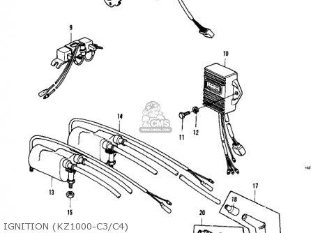 Kawasaki KZ1000C1 POLICE 1000 1978 CANADA parts lists and