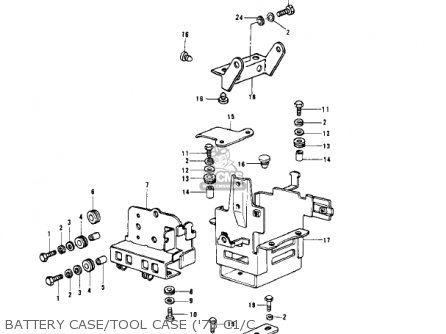 Kawasaki KZ1000C3 POLICE 1000 1980 USA CANADA parts lists