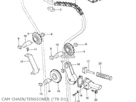 Kawasaki Kz1000d1 Z1r 1978 Canada parts list partsmanual