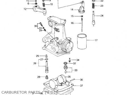 Kawasaki Kz1000d1 Z1r 1978 Canada parts list partsmanual