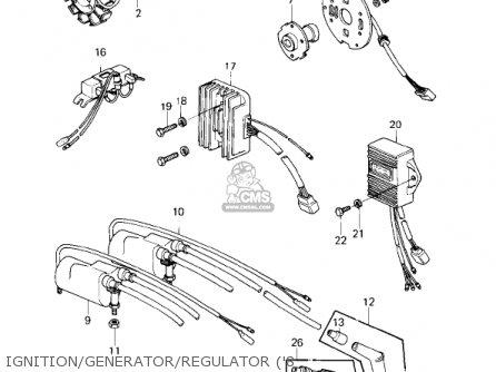 Kawasaki KZ1000D1 Z1R 1978 CANADA parts lists and schematics