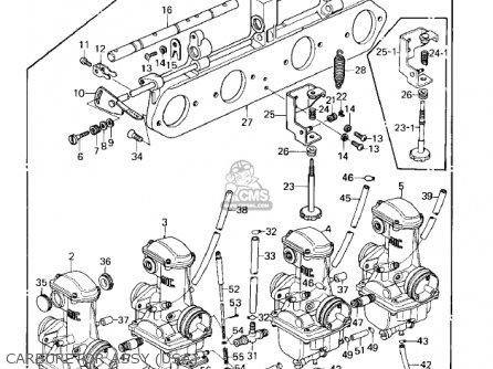 Kawasaki Kz1000e1 Shaft 1979 Canada parts list partsmanual