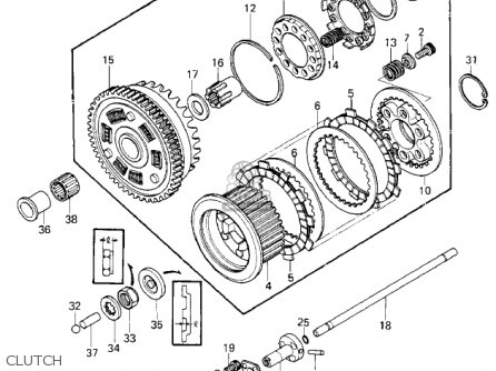 Kawasaki Kz1000e2 Shaft 1980 Canada parts list partsmanual