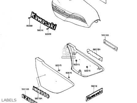 Kawasaki KZ1000J1 1981 USA CANADA parts lists and schematics