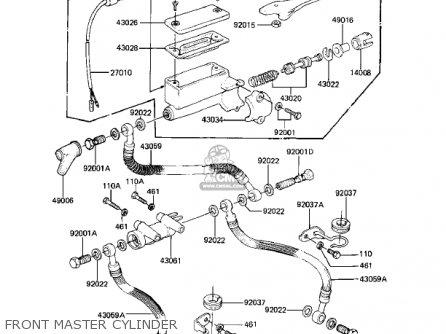Kawasaki KZ1000K2 LTD 1982 USA CANADA parts lists and