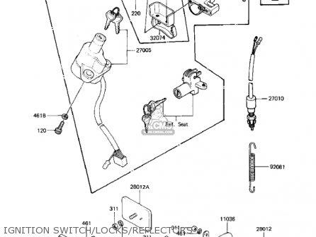 Kawasaki Kz1000k2 Ltd 1982 Usa Canada parts list