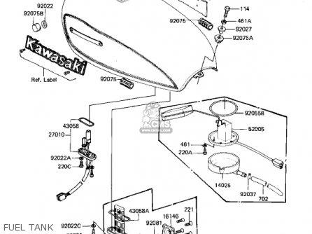 Kawasaki KZ1000M1 CSR 1981 USA CANADA parts lists and