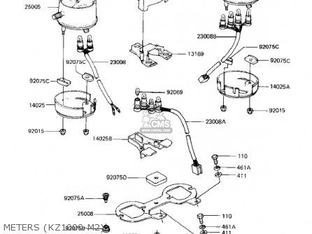 Kawasaki Kz1000m1 Csr 1981 Usa Canada parts list