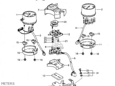 Kawasaki Kz1000p1 Police 1000 1982 Usa parts list