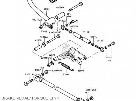 Kawasaki Kz1000p13 Police 1000 1994 Usa parts list