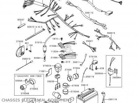 Kawasaki Kz1000p15 Ke1000 Police 1996 Usa parts list