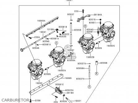 Kawasaki KZ1000P16 KE1000 POLICE 1997 USA parts lists and