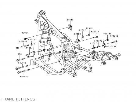 Kawasaki KZ1000P17 KE1000 POLICE 1998 USA parts lists and