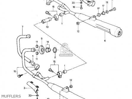 Kawasaki KZ1000P4 POLICE 1000 1985 USA parts lists and
