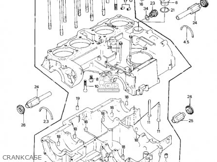 Kawasaki Kz1000p5 Police 1000 1986 Usa parts list
