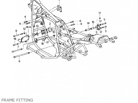 Kawasaki KZ1000P6 POLICE 1000 1987 USA parts lists and