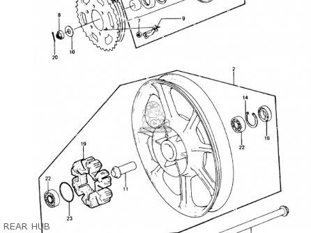 Kawasaki Kz1000p7 Police 1000 1988 Usa parts list