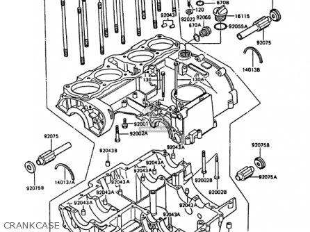 Kawasaki KZ1000P8 POLICE 1000 1989 USA parts lists and