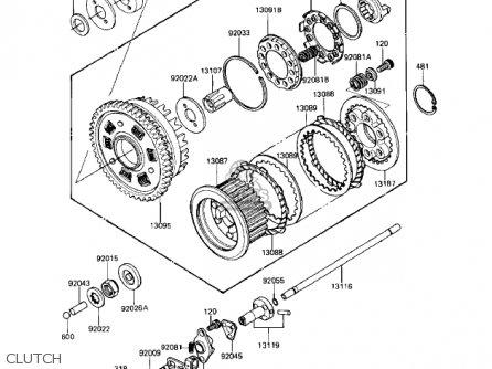 Kawasaki Kz1100a1 Shaft 1981 Usa Canada parts list