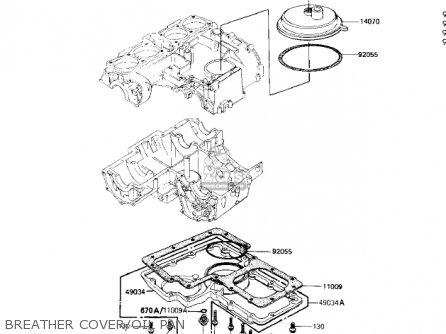 Kawasaki KZ1100A2 SHAFT 1982 USA CANADA parts lists and