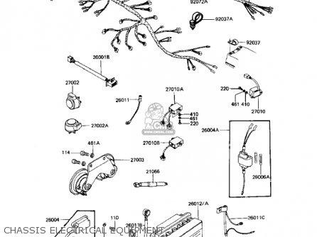 Kawasaki Kz1100a2 Shaft 1982 Usa Canada parts list