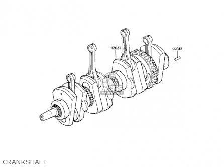 Kawasaki KZ1100A3 SHAFT 1983 USA CANADA parts lists and