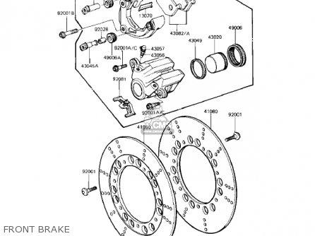 Kawasaki Kz1100a3 Shaft 1983 Usa Canada parts list