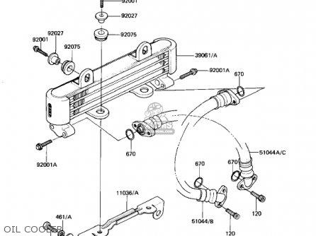 Kawasaki Kz1100b1 Gpz 1981 Usa Canada parts list