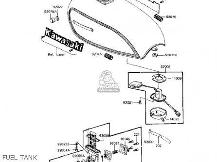 Kawasaki Kz1100d2 Spectre 1983 Usa Canada parts list