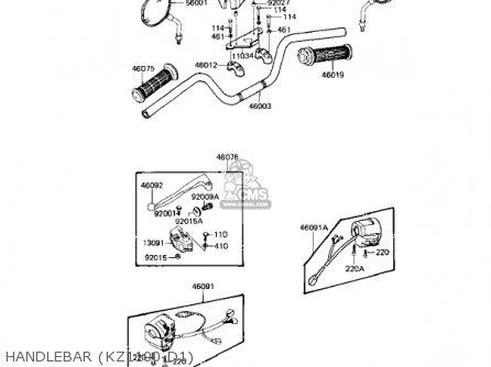 Kawasaki KZ1100D2 SPECTRE 1983 USA CANADA parts lists and