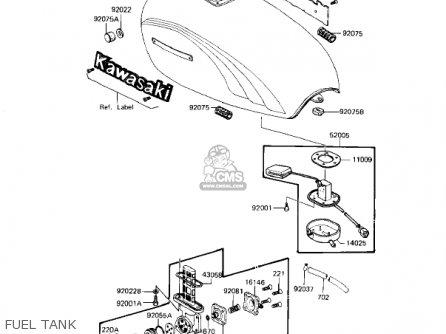 Kawasaki KZ1100L1 LTD SHAFT 1983 USA CANADA parts lists