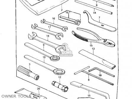 Kawasaki KZ1300A2 1980 USA CANADA parts lists and schematics