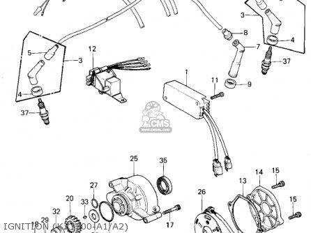 Kawasaki KZ1300A3 1981 USA CANADA parts lists and schematics
