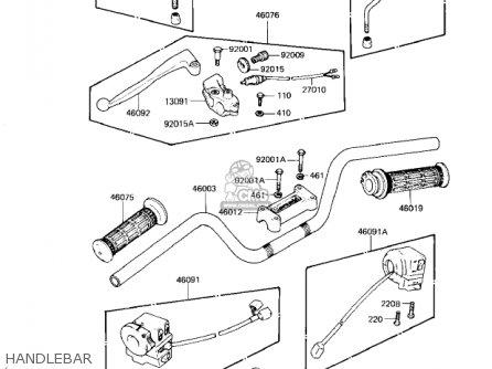 Kawasaki Kz1300a4 1982 Usa Canada parts list partsmanual