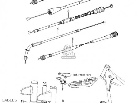 Kawasaki Kz200a1 1978 Canada parts list partsmanual partsfiche
