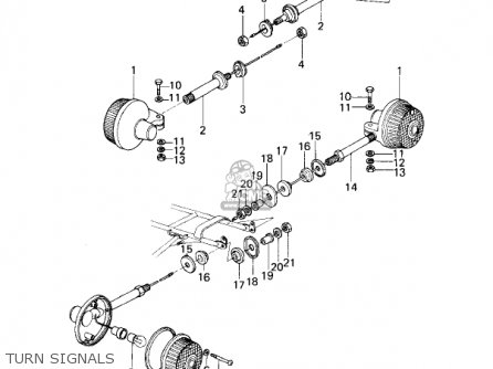 Kawasaki KZ200A1 1978 CANADA parts lists and schematics