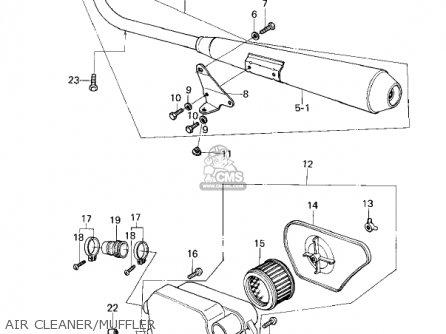 Kawasaki Kz200a2 1979 Canada parts list partsmanual partsfiche