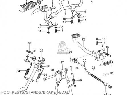Kawasaki Kz200a2 1979 Canada parts list partsmanual partsfiche